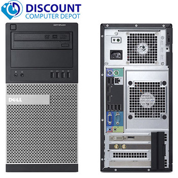 """Dell 390 Core i3 3.1GHZ  Tower 8GB 250GB with 17"""" LCD Keyboard and Mouse Windows 10 Home (all units must match)"""
