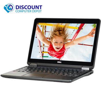 """Dell Latitude Laptop Computer E7250 12.5"""" Intel Core i5 8GB 128GB SSD Windows 10 Pro with Backlit Keyboard and HDMI"""