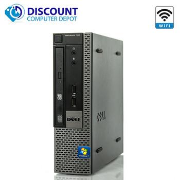 """Dell Optiplex 780 USFF Windows 10 Desktop Computer 3.0GHz 8GB RAM 250GB HD Dual 19"""" LCD"""