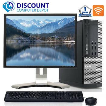 "Dell Desktop Computer Optiplex 3010 SFF Intel Core i5 8GB RAM 500GB HDD WIFI Keyboard and Mouse 19"" LCD Monitor Windows 10 Pro"