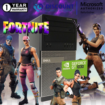 Dell Desktop Gaming Computer 16GB i5 SSD+HDD Fortnite Nvidia 1030 Windows 10 PC