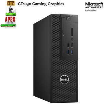 """Dell Gaming PC T1700 SFF Xeon 16GB 512GB SSD Wi-Fi GT1030 Graphics with 22"""" LCD Monitor Windows 10 Refurbished Computer"""