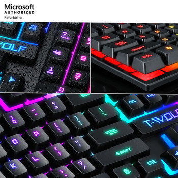 Gaming Keyboard T-Wolf T20 Multicolor Backlit Wired Keyboard (New in Box)