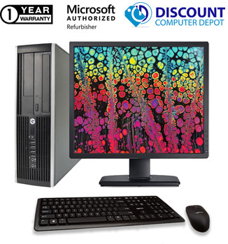 "Fast HP 6005 Desktop Computer AMD Windows 10 PC 2.80GHz 8GB 250GB HD 19"" LCD DVD"