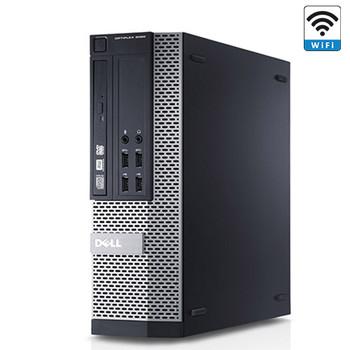 """Dell 7010 SFF Desktop Computer Core i3 8GB 512GB SSD Windows 10 Dual 19"""" LCD"""
