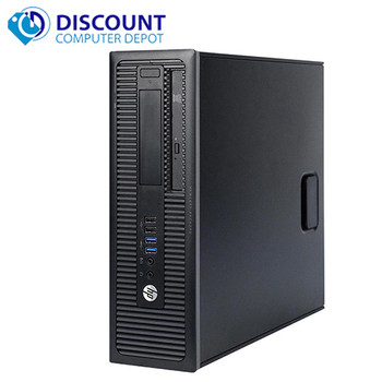 """HP ProDesk G1 Desktop Computer Core i5 (4th Gen) 3.2GHz 16GB 256GB SSD  Windows 10 Pro and WIFI and Dual 19"""" Monitors"""