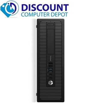 "HP 800 G2 i5 6th gen SFF 8GB RAM 256GB SSD Windows 10 Home Dual 22"" LCD"