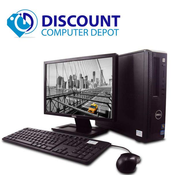 """Fast Dell Vostro Desktop Computer PC i3 3.1GHz 4GB 250GB Windows 10 w/19"""" LCD"""