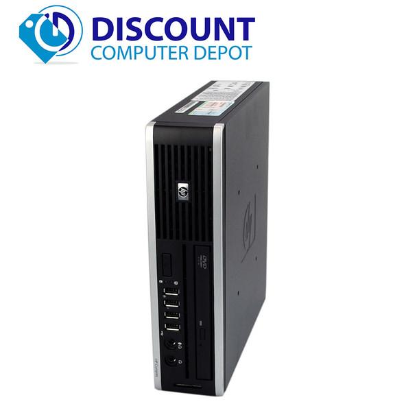 HP 8000 Elite Small Thin Desktop Computer PC C2D 3.0GHz 4GB 160GB Windows 10 Pro