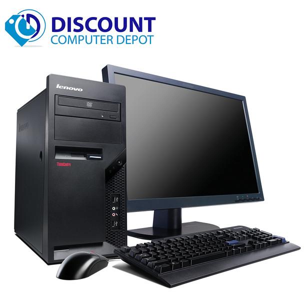 "Lenovo Windows 10 Pro Desktop Computer PC C2D 2.13GHz 4GB 250GB w/17"" LCD"
