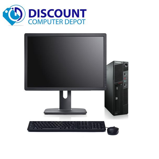 "Lenovo M91P USFF Desktop Computer Intel i5 PC 2.5GHz 8GB 500GB Win10 Pro 19"" LCD"