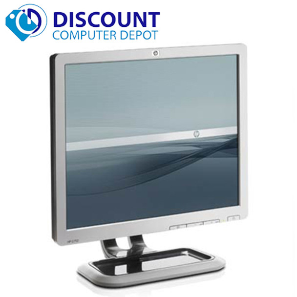 """HP 17"""" Flat Panel Screen LCD Monitor with VGA Cable"""