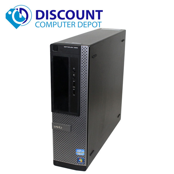 "Dell Optiplex 390 Desktop Computer PC Intel I3 3.3GHz 8GB 128GB SSD Windows 10 Pro with Dual 2x22"" Dell LCD Monitors"