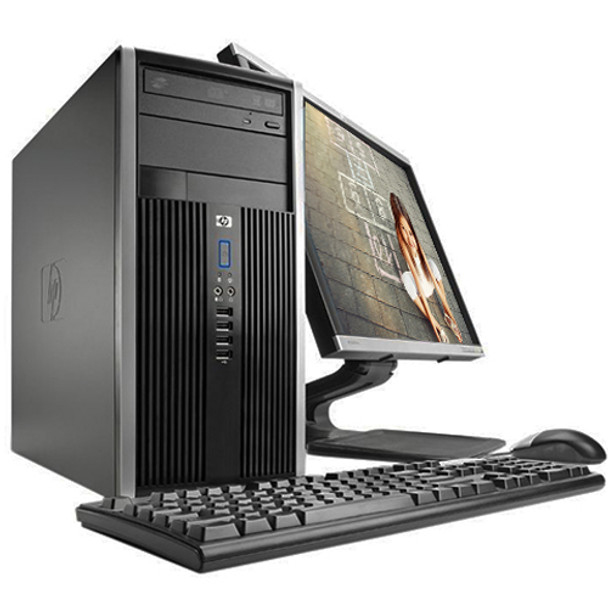 "HP Elite/Pro Desktop Computer Tower i5 3.1GHz 4GB 250GB 19""LCD Wifi Windows 10"