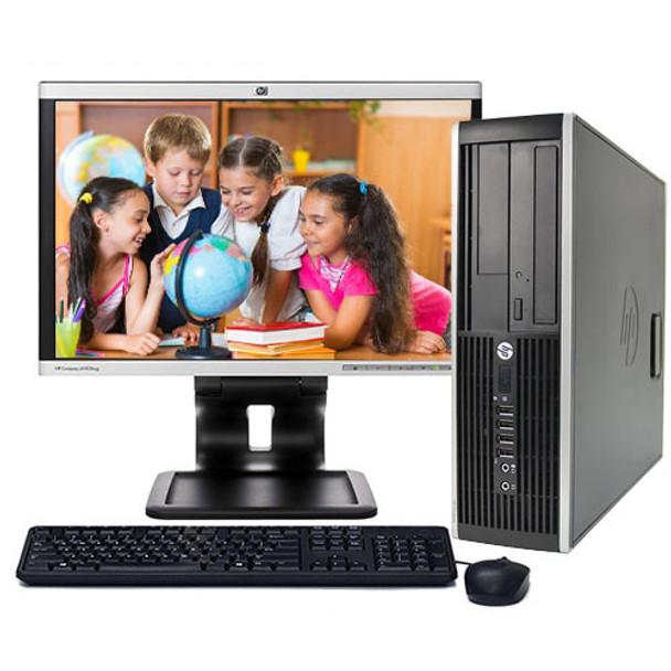 "HP Elite/Pro Desktop Computer PC Windows 10 Pro Quad i5 3.1GHz 8GB 1TB 19"" LCD"