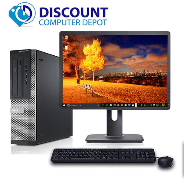 """Fast Dell Optiplex Windows 10 Desktop Computer i3 3.1GHz 4GB 250GB 19"""" LCD Wifi"""