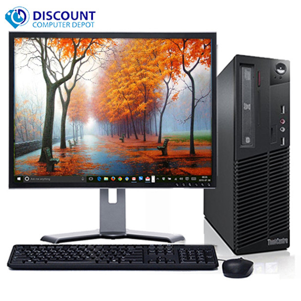 "Lenovo M82 Windows 10 Pro Desktop Computer PC Intel Quad Core i5 3.1GHz 8GB 500GB with a 17"" LCD"