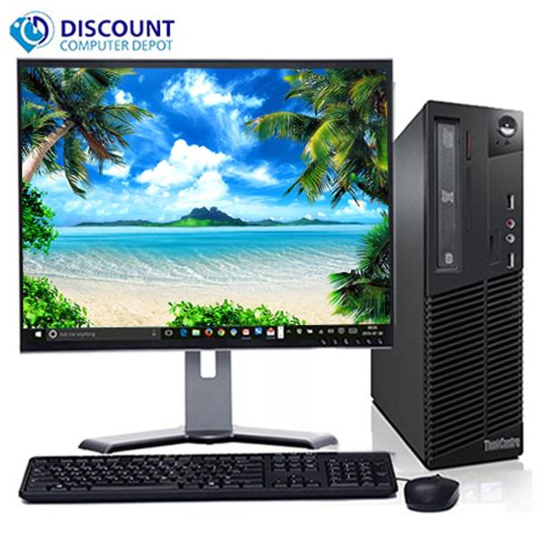 "Fast Lenovo Core i5 Desktop Computer Windows 10 PC 3.1GHz 8GB 500GB 19"" LCD Wifi"
