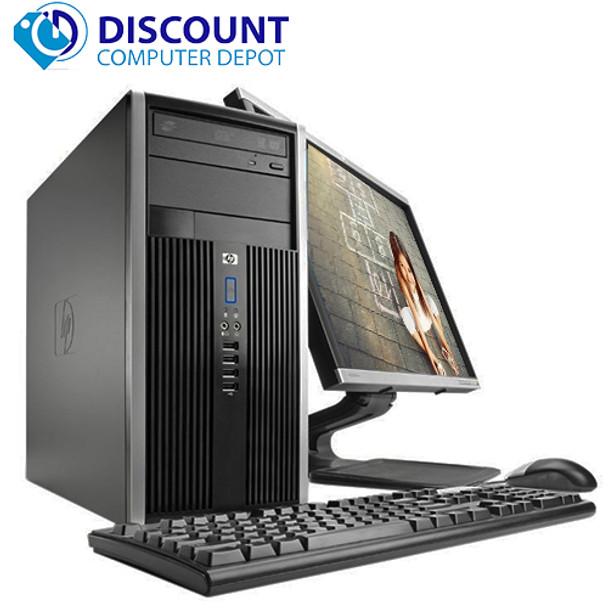 "HP Elite/Pro Desktop Computer Tower i5 3.1GHz 8GB 1TB 22""LCD Wifi Windows 10 Pro"