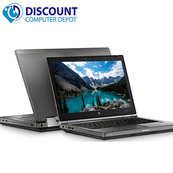 HP Elite 8460w Laptop Computer Core i7 2nd Gen 8GB 500GB Windows 10 Pro DVD-RW