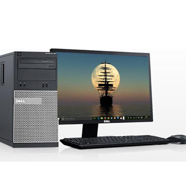 Dell Optiplex 990 Computer Tower i5 3 3GHz 8GB 250GB Win 10 Home WiFi w/17
