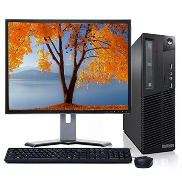 "Fast Lenovo ThinkCentre Desktop Computer PC 4GB 160GB DVD Wifi 17"" LCD Windows 10 Home Premium"