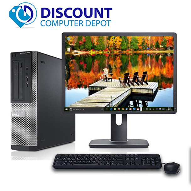 "Dell Optiplex 390 Desktop Computer i3 3.1GHz 4GB 250GB Windows 10 Pro w/17"" LCD Wifi"