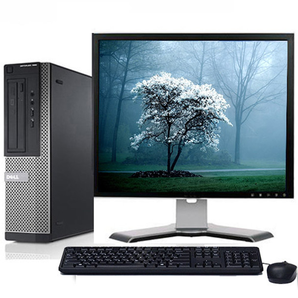 "Fast Dell Optiplex Desktop Computer PC Intel i3 3.1GHz DVD Wifi 17"" LCD Windows 10"