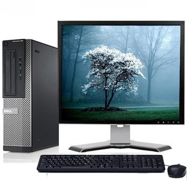 "Fast Dell Optiplex Desktop Computer Core i3 3.1GHz DVD Wifi 17"" LCD Windows 10"