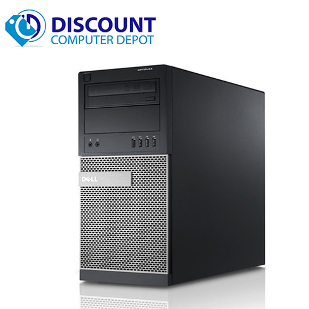 """Dell Optiplex Computer Tower i5 3.1GHz 8GB 500GB Windows 10 Pro WiFi with a 22"""" LCD"""