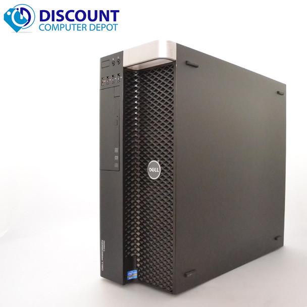 "Dell Precision T3600 Windows 10 Pro Desktop Computer Core Xeon 16GB 256GB SSD Keyboard Mouse 22"" LCD Monitor"