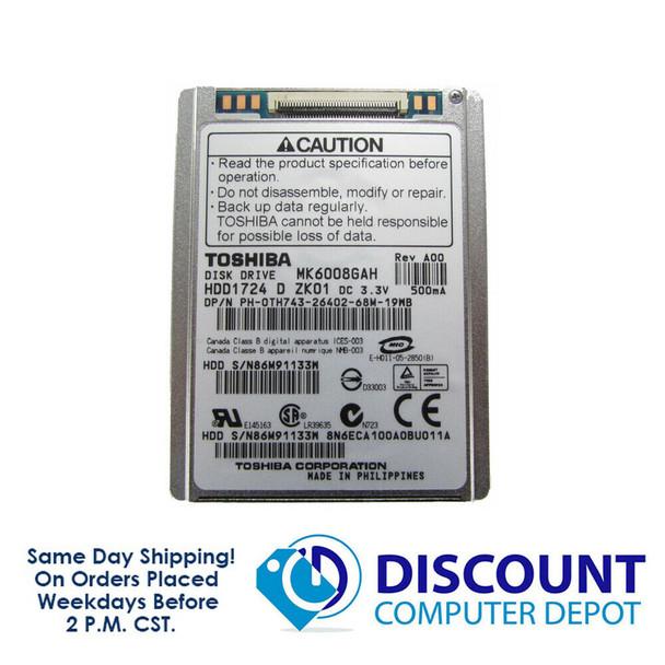 "60GB 1.8"" Toshiba Hard Drive MK6008GAH For iPod Classic Video MacBook Air A1237"