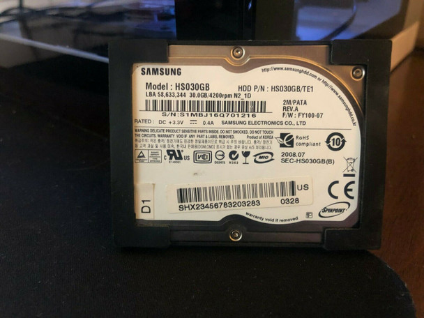 "30GB Samsung SpinPoint HS030GB 1.8"" PATA/ZIF Laptop Hard Drive"