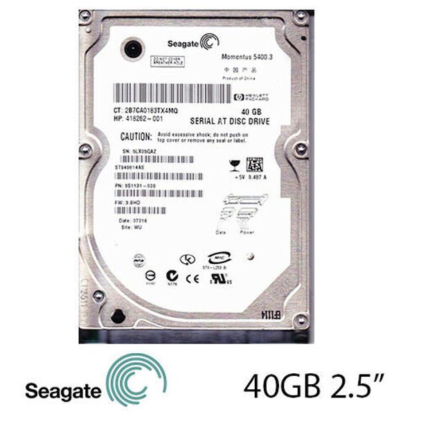 "40GB HP Seagate Momentus 2.5"" 5400RPM SATA Internal Laptop Hard Drive HDD"