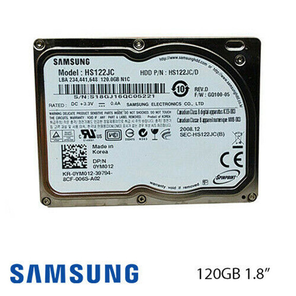 "120GB Samsung SpinPoint N1C 1.8"" ATA-100 Laptop Hard Drive HS122JC"