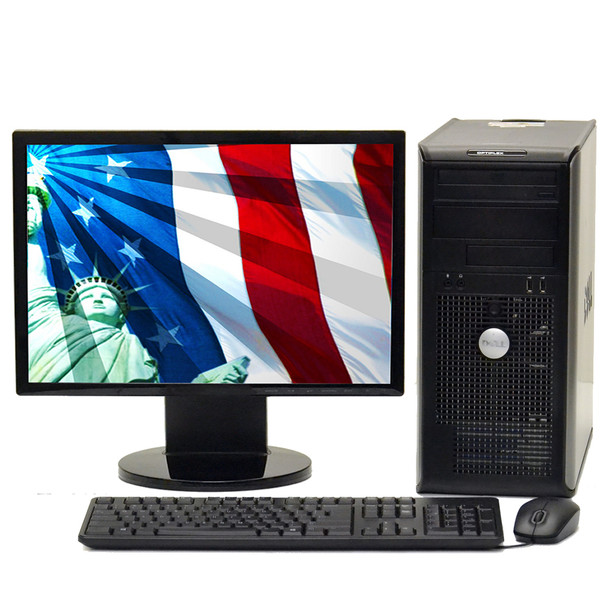 "Lot 10 Windows 7 Pro 64-bit Dell Optiplex 755 2.2 GHz, Core 2 Duo Tower 8GB 250GB & 19"" LCD Computer Monitor"