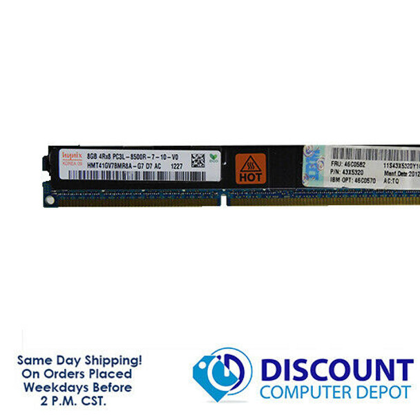 8GB Hynix PC3L-8500R DDR3-1066 REGISTERED ECC Server Memory RAM