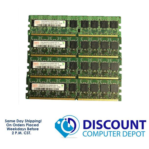 Hynix 4GB 1GBx4 PC2-5300E-555-12 HYMP512U72CP8-Y5 AB-C NON-REG ECC Memory RAM