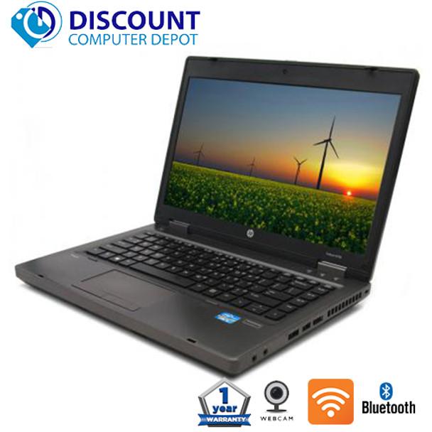 "HP 6470b 14"" Laptop Computer Core i5 8GB 1TB Windows 10 Pro DVD-RW"