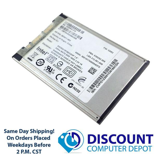 """Intel 160GB 1.8"""" SATA Solid State Drive SSD SSDSA1M160G2HP HP P/N 583511-002"""