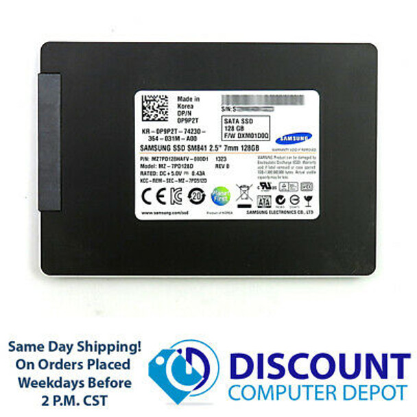 """128GB 2.5"""" Samsung SSD SATA III 6Gbps Solid State Drive For Laptops / Desktops"""