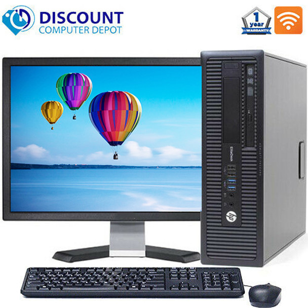 """HP Prodesk 600 G1 Desktop Core i3  Processor 8GB RAM 500GB HDD with 19"""" LCD and Windows 10 Professional and WIFI"""