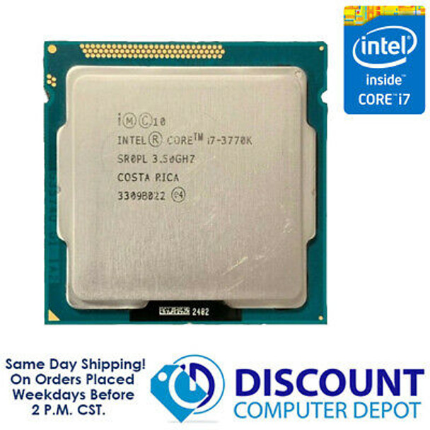 Intel Core i7-3770k 3.5GHz Quad-Core CPU Computer Processor LGA1155 Socket SR0PL