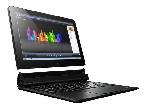 "Lenovo Helix 3702 Laptop/Tablet i5-3427U 1.80GHz 3rd Gen 11.6"" 4GB 128GB SSD Windows 10 Pro 2-in-1 Detachable Touchscreen"