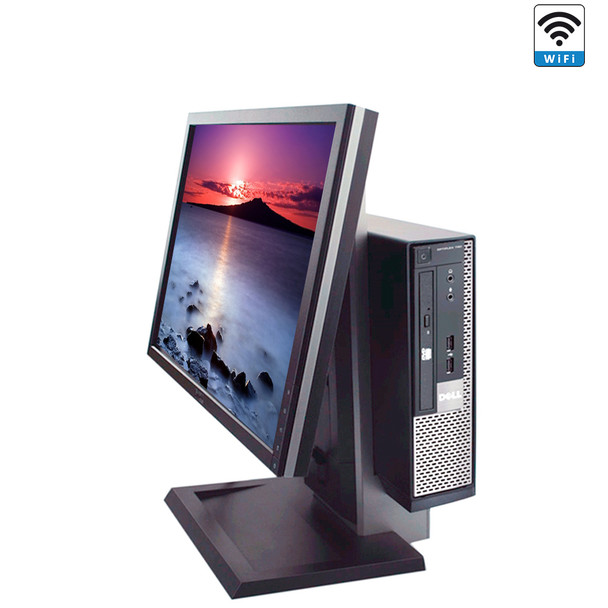 """Dell Desktop Computer All in One 780 4GB 250GB 19"""" LCD with Windows 10 PC"""