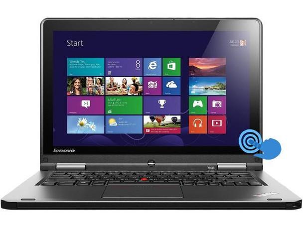"Touch Screen Lenovo ThinkPad Yoga 2-in-1 | 12.5"" Laptop/Tablet | Intel Core i3-4010U 1.7GHz 4th Gen Processor | 4GB RAM | 128GB SSD | Windows 10 Home | WIFI"