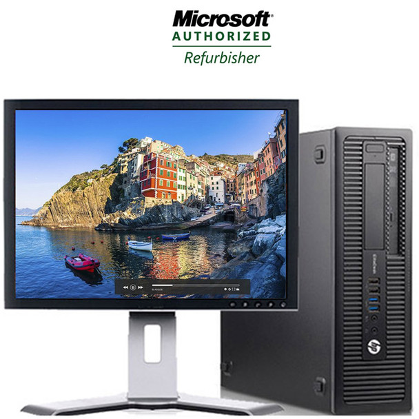 "HP Prodesk 600 G1 Desktop Core i5 Processor 8GB RAM 256GB SDD with 19"" LCD and Windows 10 Professional and WIFI"