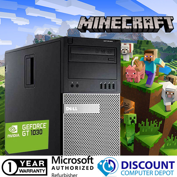 Dell Minecraft Nvidia 1030 Desktop Gaming Computer 8GB i5 500GB Windows 10 PC