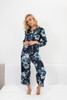 CLASSIC SILK CROPPED PJ PANT CLEARWATER