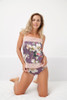 SILK WITH LEAVERS LACE PRINTED PIA UNDERPINNING EDEN
